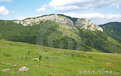 Mountain landscape in Transylvania