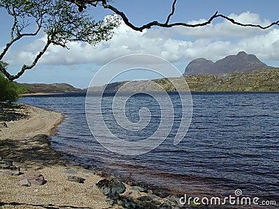 Mountain from lochside