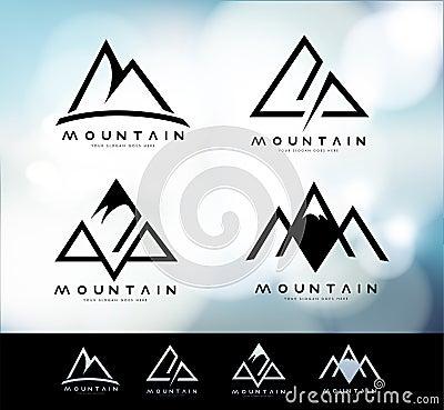 Free Mountain Logo Vintage Stock Photography - 73120382
