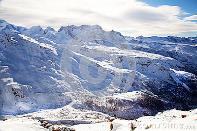 Mountain Matterhorn landscape in Switzerland