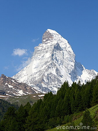 Mountain Matterhorn in summer