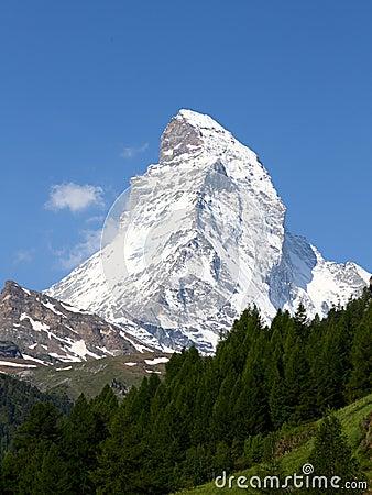 Mountain Matterhorn in summer