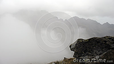 Mountain in mist