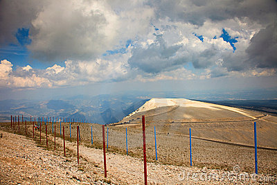 Mountain mont Ventoux cloudy daytime