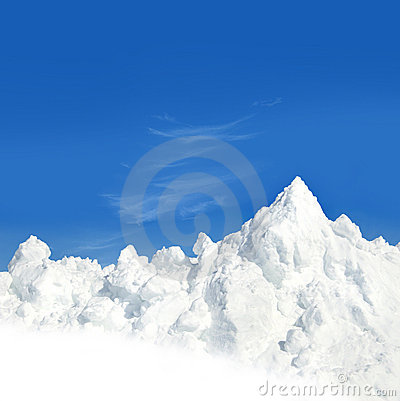 Free Mountain Of Snow Royalty Free Stock Photography - 7270097