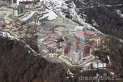 Mountain Olympic village Editorial Image