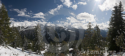 Mountain Panorama Royalty Free Stock Image - Image: 21667896