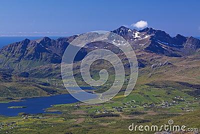 Mountain panorama on Lofoten