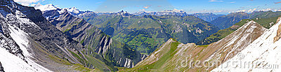 Mountain panorama from Segnas pass,