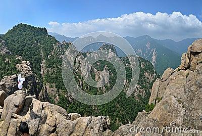 Mountain panorama of Seoraksan National Park