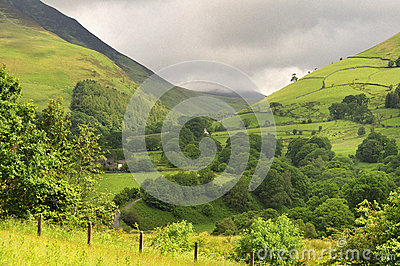 Mountain pass, Lake district, Cumbria