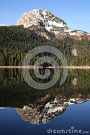 Mountain peak mirror reflection