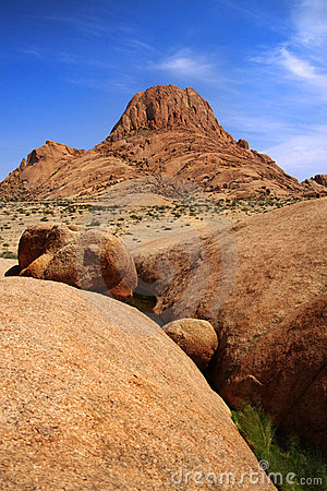 Mountain peak in namibia at spitzkoppe