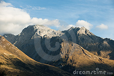 Mountain peaks at high altitude