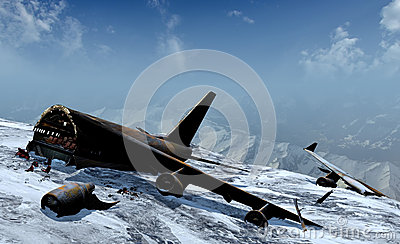 Mountain plane crash