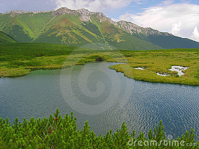 Mountain pond in Slovak High Tatras