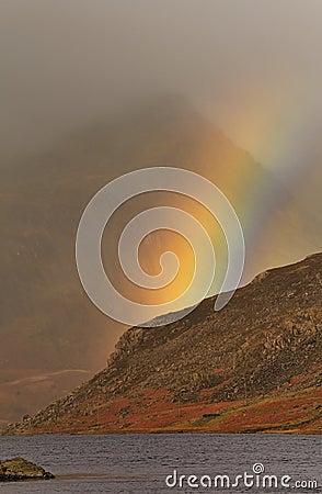 Free Mountain Rainbow, Llyn Ogwen, Snowdonia Royalty Free Stock Photography - 24884717
