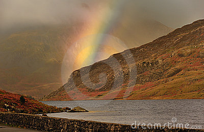 Mountain rainbow, Snowdonia, Wales