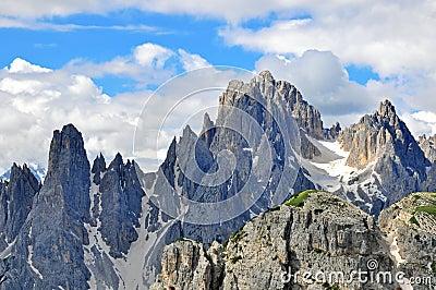 Mountain range in Dolomites, Italy