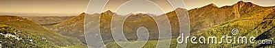 Mountain range panorama, Robinson Pass