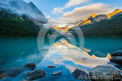 Mountain reflection on the lake