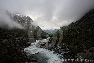 Mountain and river