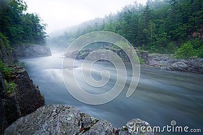 Mountain river.Long Exposure