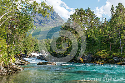 Mountain river,  Norway