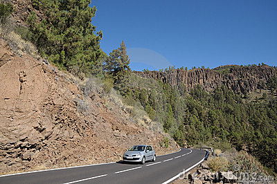 Mountain Road in El Teide National Park, Tenerife