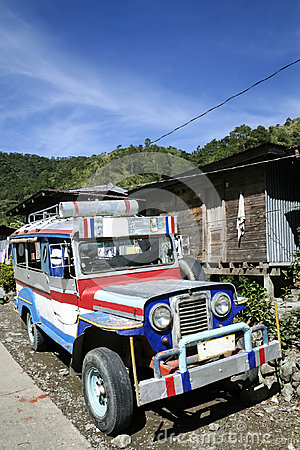 Mountain road jeepney banaue philippines