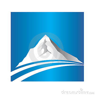 Mountain and road logo