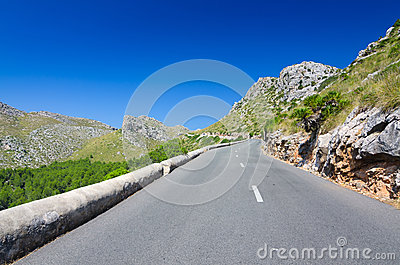 Mountain road on Majorca