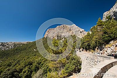 Mountain road in Mallorca