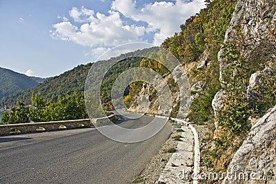 Mountain Road near the Danube