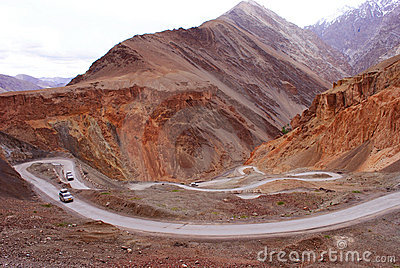 Mountain roads in Ladakh