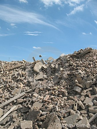 Mountain of rubble