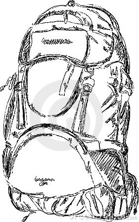 Mountain rucksack,  sketch