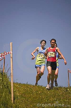 Mountain running challenge Editorial Stock Photo