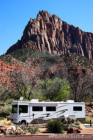 Free Mountain RV Stock Photography - 7677922