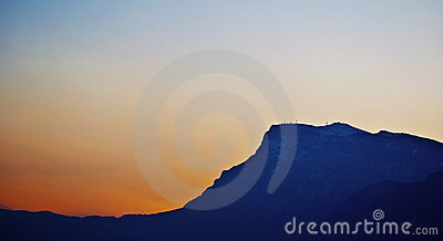Mountain s silhuette at sunset