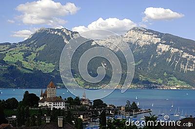 Mountain scene, Spiez, Switzerland