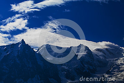 Mountain  scenery in the french Alps in summer