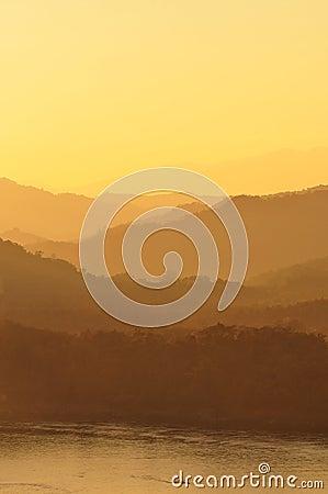 Mountain series on sunset