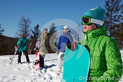 Mountain-skier