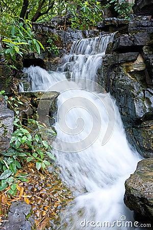 Mountain small waterfall