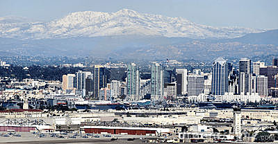 Mountain Snow Above San Diego Editorial Image