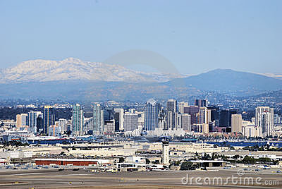 Mountain Snow Above San Diego Editorial Stock Image
