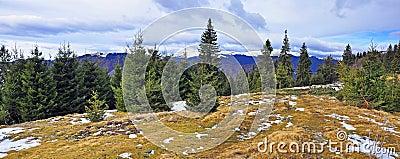 Mountain snowy peak