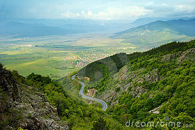 Mountain spring view from Bulgaria