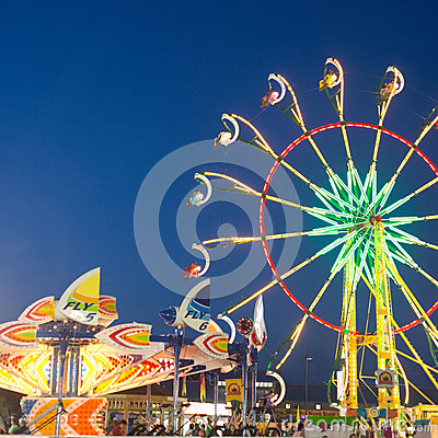 Mountain State Fair Lights Editorial Photo